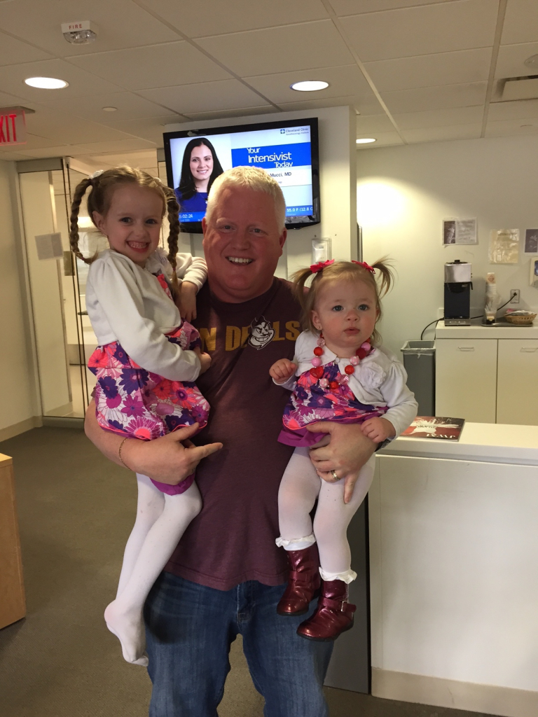 Tim Martin and Bill Ball's two daughters